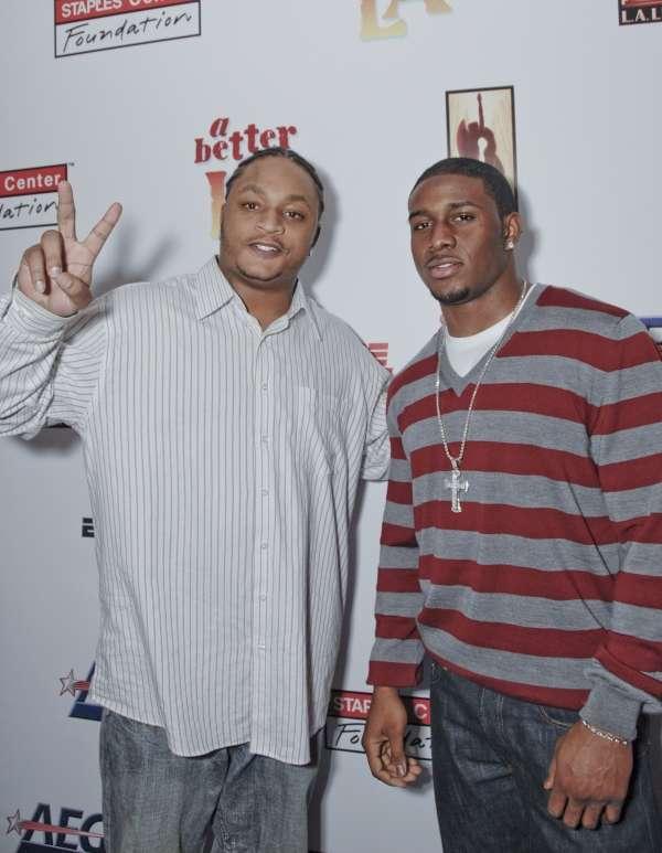 Lendale White and Reggie Bush ESPN Zone by JB Brookman