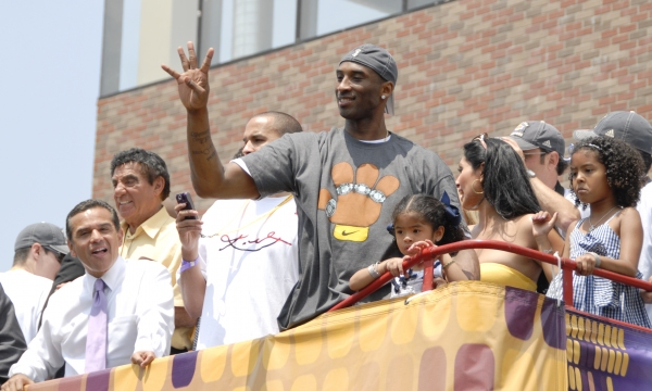 LA Laker Parade Kobe Bryant By JB Brookman