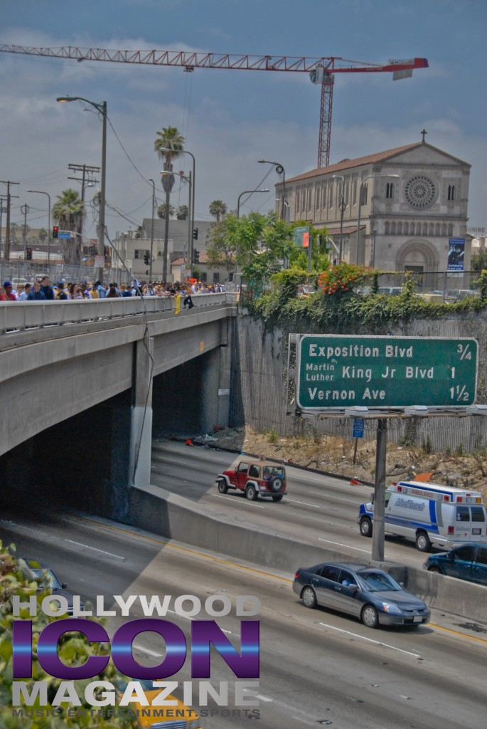 LA Lakers Championship Parade By JB Brookman-46 Freeway