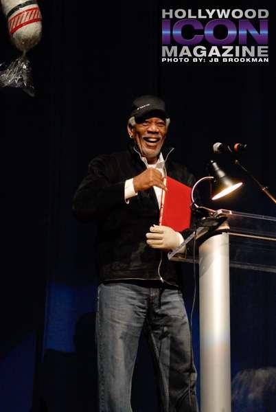 Morgan Freeman at the KLOS Mark & Brian Christmas Show.  Photo: JB Brookman