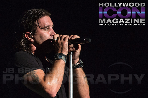 Scott Stapp of Creed, performing Human Clay in LA.  Photo: JB Brookman