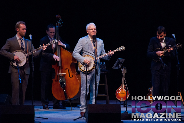 Steve Martin and the Steep Canyon Rangers at Santa Barbara's Granada Theatre.  Photo: JB Brookman