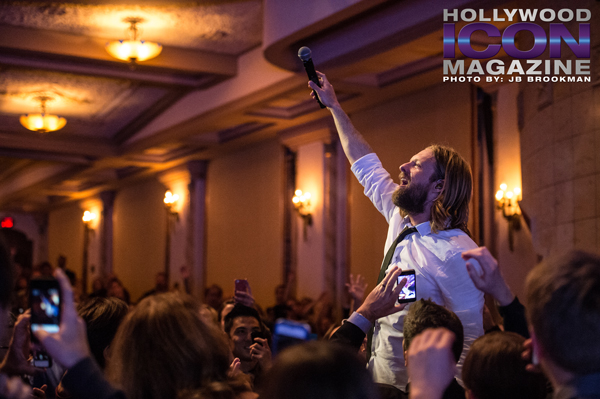 Jon Foreman sings from the crowd, as Switchfoot rocks Santa Barbara.  Photo: JB Brookman