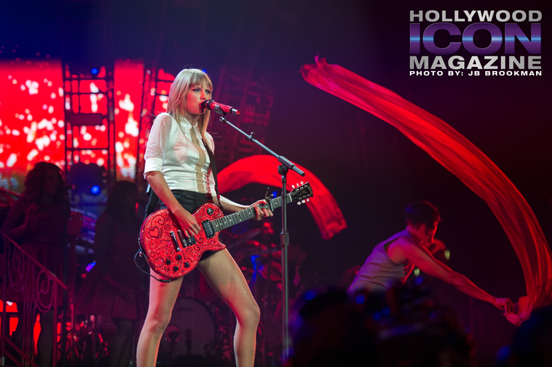 Taylor Swift at Staples Center in LA.  Photo: JB Brookman