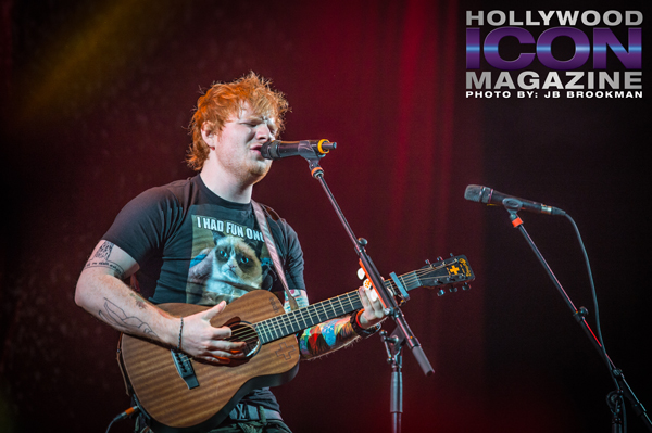 Ed Sheeran at Staples Center in LA.  Photo: JB Brookman