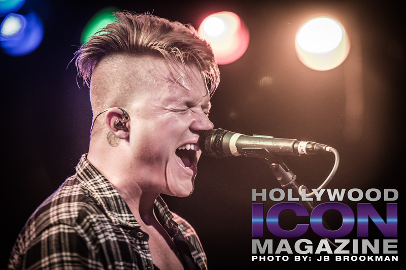 Aaron Gillespie of The Almost at The Roxy Theatre on the Sunset Strip.  Photo: JB Brookman