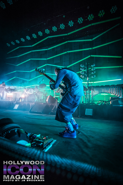 Flea from Atoms For Peace rock the Santa Barbara Bowl.  Photo: JB Brookman