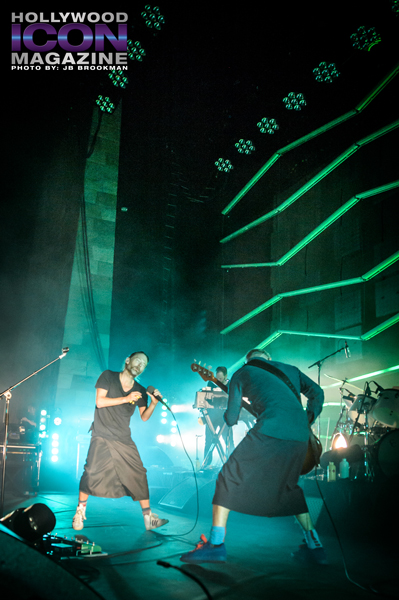 Flea and Thom Yorke from Atoms For Peace rock the Santa Barbara Bowl.  Photo: JB Brookman