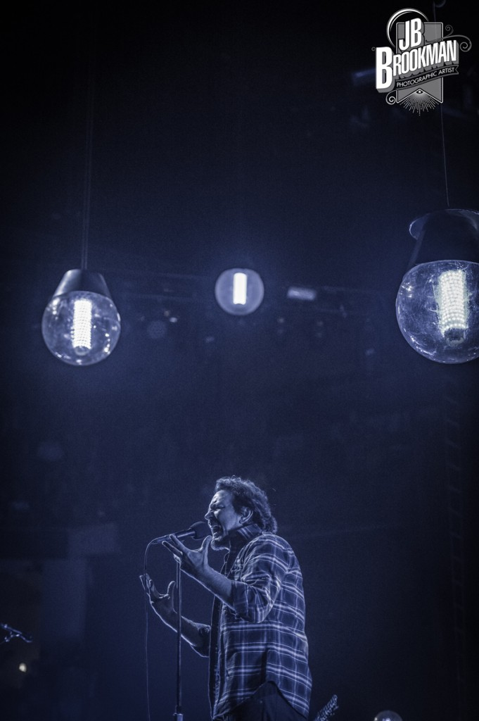 Eddie Vedder of Pearl Jam, performs at FedEx Forum in Memphis.  Photo: JB Brookman Photography